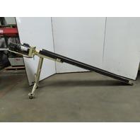 """12""""W x 120""""L Smooth Belt Slide Bed Conveyor 115V 1Ph 37FPM"""
