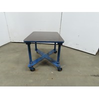 "1"" Thick  Cast Iron Top 24""x30-3/4""x24"" Welding Table Work Bench W/Casters"