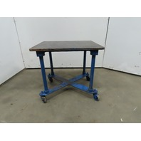 "1"" Thick  Cast Iron Top 24""x30-3/4""x28-1/2"" Welding Table Work Bench W/Casters"