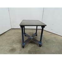 "1"" Thick  Cast Iron Top 24""x30-3/4""x28"" Welding Table Work Bench W/Casters"