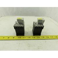 Siemens 3TF2001-0BB4 16A 600V Contactor 24VDC Coil Lot Of 2