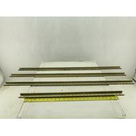 Hellermann Tyton 35mm x 15mm Top Hat DIN Rail Lot Of 4 Pieces 11' Total