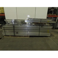 """Chalfant 18"""" x 4"""" Aluminum Cable Lay On Ladder Tray Straight Elbow 450+ Ft Lot52"""
