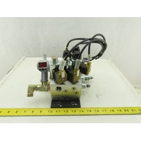 Hydac 5 Solenoid Operated Hydraulic Regulated Manifold Check Assembly 24VDC