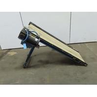 """24"""" x 76"""" Steep Incline Adjustable Slider Bed Conveyor 33 FPM 230/460V 3Ph"""