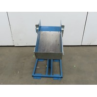 "14""x 20"" x 6"" Deep Dry Material Automatic Fill Dump Gravity Receiver Hopper"