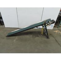 """12"""" x 116""""  Steep Incline Adjustable Slider Bed Belt Conveyor 24FPM 115/230V 1Ph"""