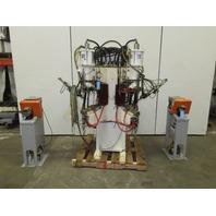 GE Schmidt PRO1-Dual-100 480V 100KvA Dual Head Pedestal Nut Welder W/ Feeders