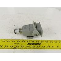 Harting 10EE-F 10 Pin Male Female Plug Housing Lever Lock 16A 500V