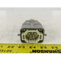 Harting 10 Pin Male Connector Housing Lever Lock Straight