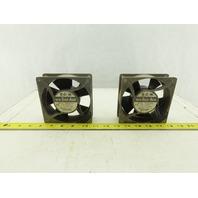 Sanyo Denki 109S072UL 230V 50/60Hz Electrical Cabinet Cooling Fan Lot Of 2