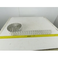 "Rex 880 Table Top 3-1/4"" Flat Top Conveyor Chain 151"""