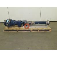 "Seepex 7-1/2Hp Progressive Cavity Pump 1770RPM 230/460V 3Ph 4x4"""