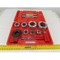 "Ratchet Handle Manual Pipe Threading Tool Kit 7 Dies Set 3/8""-2"""