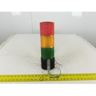 Federal Signal Model LSB Litestak 24V 3 Light Stack Tower Red Amber Green No Cap