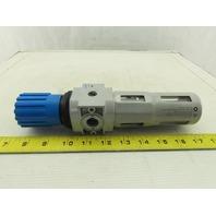 """Festo LFR-D-MIDI 159584 Pneumatic Inline Air Filter Regulator 1/4"""" NPT"""