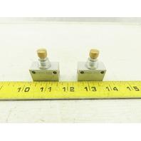 Festo GR-1/8-B 151215 1/8 One Way Inline Flow Control Valve Lot Of 2