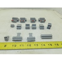 Phoenix Contact Multi Pole Contact Pluggable Wire Terminal Blocks Lot Of 14