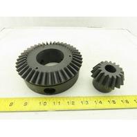 14035250 144mm OD x 60mm Bore Bevel Gear Set 20mm Bore Lot of 2