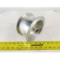 "6"" OD x 3"" Flat Belt Idler Pulley Sheave Aluminum 1-1/8"" Bore"