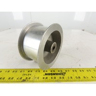 "6"" OD x 3"" Tracking Groove Flat Belt Idler Pulley Cast Aluminum 1-1/8"" Bore"