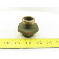 "Brass Male 1"" NPT To 1-1/2"" NH Fire Hose Adaptor Fitting"