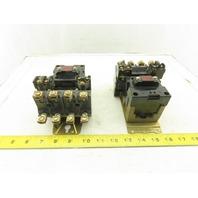 Allen Bradley 702-B0D96 Size 1 Contactor Starter 600V 10Hp 120V Coil Lot of 2