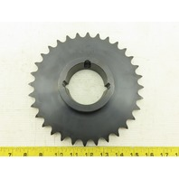 "UST H60BTL32 Single Row ANSI 60 Roller Chain Sprocket Taper Lock Bushed 8"" OD"