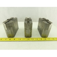 Collins Machine Works Steel Soft Jaws For Tongue & Groove Chuck Lot of 3