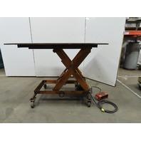 "Hydraulic Scissor Lift Table 59""x59"" Top 16-51"" Lift 220V 1Ph"