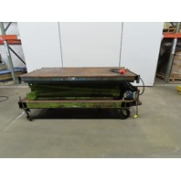 "Mite-Lift 1500Lb Hydraulic Scissor Lift Table  76""x42"" Table 33"" to 19'8"" H 120V"