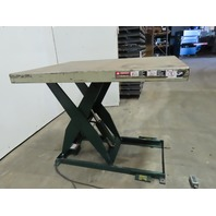 "Southworth 2000Lb Hydraulic Scissor Lift 54x42"" Table 7-43""H 115V Single Phase"