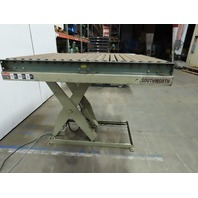 "Southworth Scissor Lift Table Roller 60x48"" Roller Top  12 to 48"" Hight 115V"