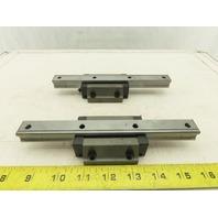 "THK SHS20 Linear Bearing  Block W/7-7/8"" Rail Lot of 2"