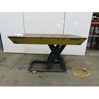 "Southworth LS2-36 2000Lb Scissor Lift Table 72x48"" Top 9-44""H 115V Single Phase"