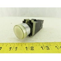 Armstrong Blum White Illuminated Push button W/ZB2-BE101 Contact Block