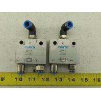 Festo OS-1/4-B Pneumatic Valve Lot of 2