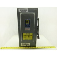 Square D H 362 600V 60A Fused 3 Pole Machine Disconnect Switch