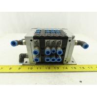 Festo CPV14-VI Pneumatic Manifold Assembly W/6 Solenoid Valves 161 362