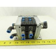 Festo CPV-14-VI Pneumatic Manifold Assembly W/4 Solenoid Valves 161 362