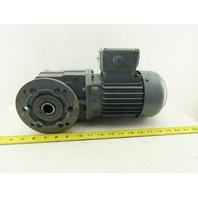 Bauer SG2-S4/DK74 60.63: 1 Ratio 26.5RPM 400V 60Hz 3Ph Right Angle Gearmotor