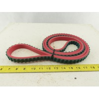 MIR 850H075 Endless Nylon Tooth Timing Belt W/6mm Red Linatex Cover