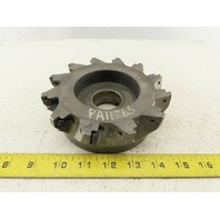 """6"""" Indexable Cutter Shell Mill Facemill 12 tool 1-1/2"""" Arbor"""
