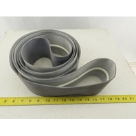 """Midwest Industrial Rubber Endless Conveyor Belt 144.5""""x3.87"""" Wide V-Guide"""