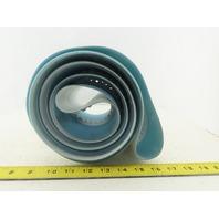 130mm Wide Smooth Top Center V-Groove Tracking Endless Conveyor Belt 3370mm