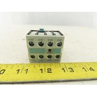 Siemens 3RH1921-1HA31 Auxiliary Contact 3NO+1NC