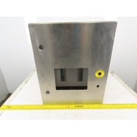 """SEC Stainless Steel Electrical Enclosure 24x24x8"""" Wall Mount Hinged W/Back Plate"""