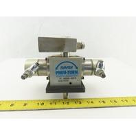 """Bimba PT-098045-A2C1D Pneu-Turn 1-1/2"""" Bore Single Rack 45° Rotary Actuator"""