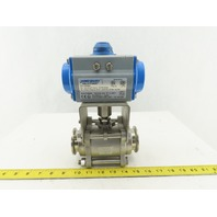 "Jamesbury VPVL100ABD Valv-Powr 2"" Sanitary Valve And Pneumatic Actuator"