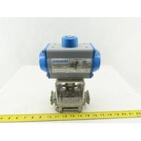 "Jamesbury VPVL100DABC 1-1/2"" Sanitary Ball Valve W/ Pneumatic Actuator"